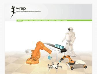 coppeliarobotics.com screenshot