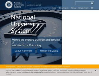 Main page screenshot of nusystem.org
