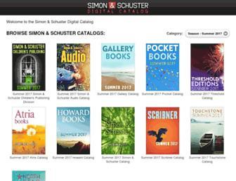 catalog.simonandschuster.com screenshot