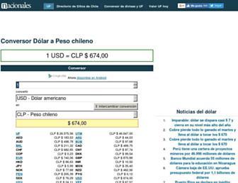 conversor.cl screenshot