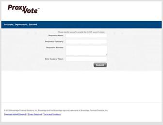 materials.proxyvote.com screenshot