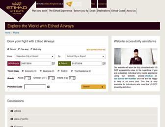 flights.etihad.com screenshot