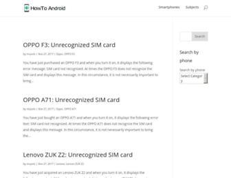 howto-android.com screenshot