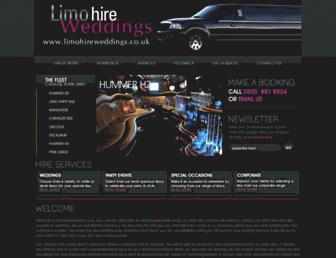 limohireweddings.co.uk screenshot