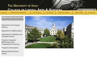 homepage.cs.uiowa.edu screenshot