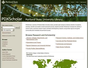 pdxscholar.library.pdx.edu screenshot