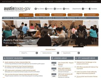 Thumbshot of Austintexas.gov