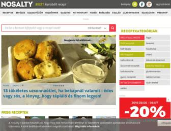 Main page screenshot of nosalty.hu