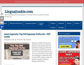 linguajunkie.com screenshot