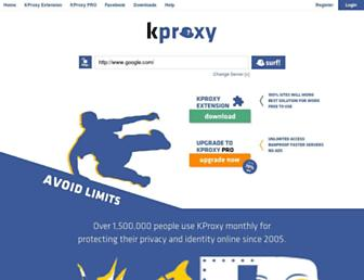kproxy.com screenshot