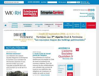 Main page screenshot of wk-rh.fr