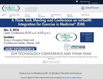 exerciseismedicine.org screenshot