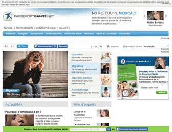 passeportsante.net screenshot