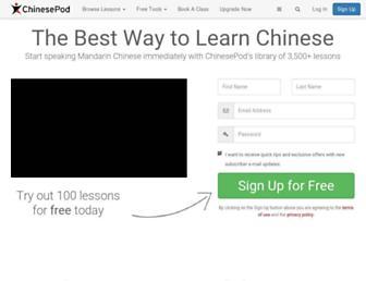 chinesepod.com screenshot