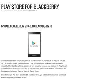 playstoreblackberry.com screenshot