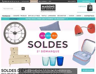 maisonsdumonde.com screenshot