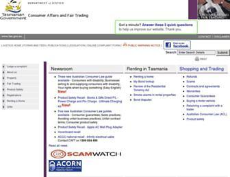 consumer.tas.gov.au screenshot
