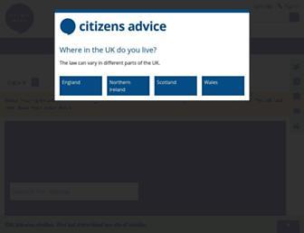 citizensadvice.org.uk screenshot