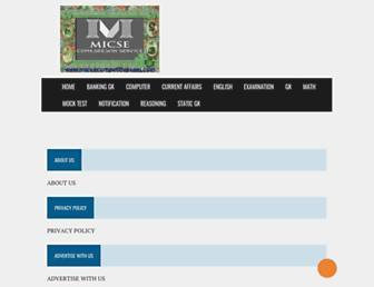 micsecompetitivexam.com screenshot