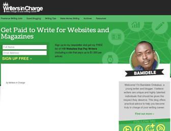 writersincharge.com screenshot