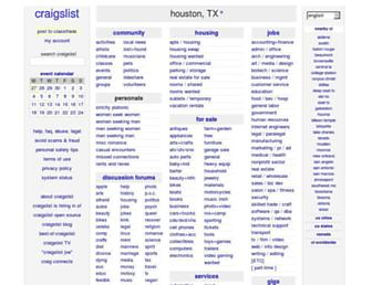 houston.craigslist.org screenshot