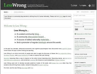 lesswrong.com screenshot