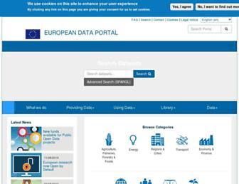 europeandataportal.eu screenshot