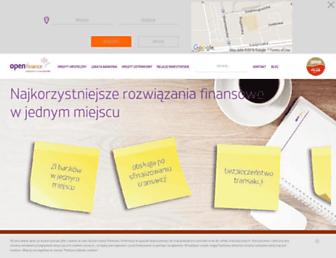 Main page screenshot of open.pl