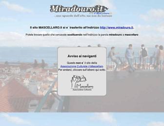 Main page screenshot of mascellaro.it