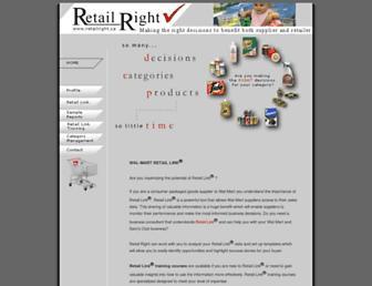 Main page screenshot of retailright.ca