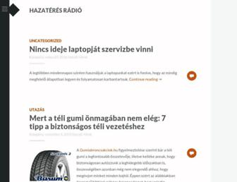 Main page screenshot of hazateresradio.hu