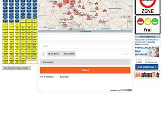 Main page screenshot of verkehrsinfo.de