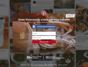 pl.pinterest.com screenshot