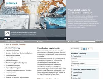 automation.siemens.com screenshot