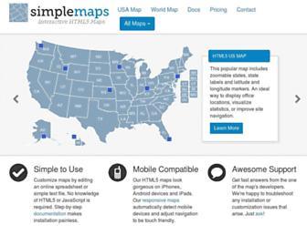 simplemaps.com screenshot