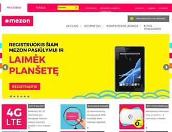 Main page screenshot of mezon.lt