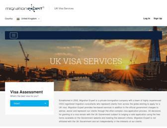 Fullscreen thumbnail of migrationexpert.co.uk