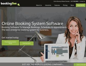 bookinglive.com screenshot