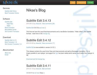 nikse.dk screenshot