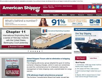 americanshipper.com screenshot