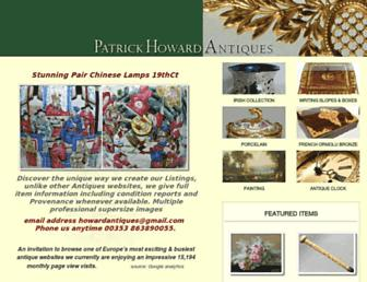 patrick-howard-antiques.com screenshot