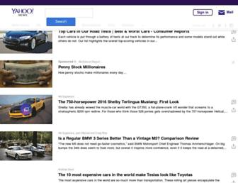 autos.yahoo.com screenshot