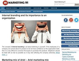 marketing91.com screenshot