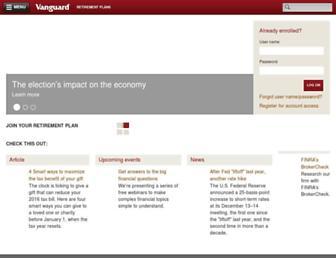retirementplans.vanguard.com screenshot