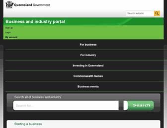 business.qld.gov.au screenshot