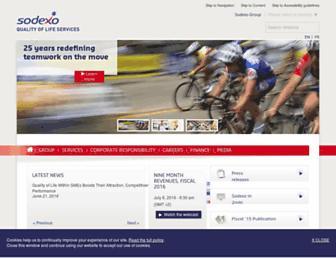 sodexo.com screenshot