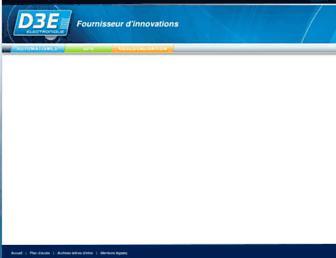 d3e.fr screenshot