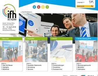Main page screenshot of ifh-intherm.de