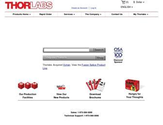 thorlabs.com screenshot
