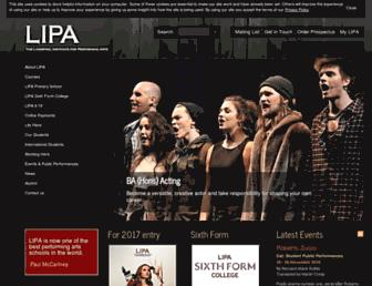 lipa.ac.uk screenshot